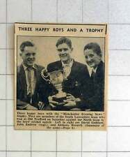 1957 Cricket Trophy For David Gothard, John Andrew, Anthony Boswell, Old Traffor