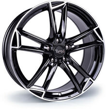 Alloy Wheels (4) 9.0x20 Targa TG3 Black Polished Lip 5x120 et40