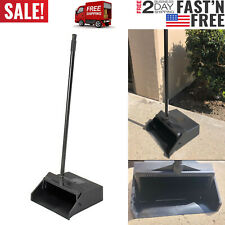"""Pivoting Upright Lobby Dustpan with Metal Handle 30"""" Length Black"""