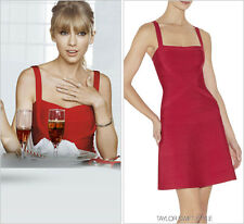 """NWT Authentic Herve Leger """"FAITH"""" Lipstick Red M Flared Bandage Dress - $1,250"""