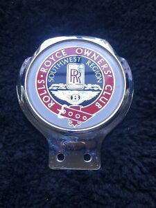 Rolls-Royce Owners Club RROC Bentley Southwestern Region Badge Renamel London