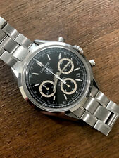 $4100 AUTHENTIC BLACK TAG HEUER CARRERA REISSUE CHRONOGRAPH DATE 39mm W EXTRAS