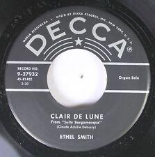 50'S Decca Nos 45 Ethel Smith - Clair De Lune / Largo On Decca