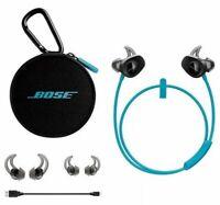 BLUE Bose SoundSport Wireless In Ear Bluetooth Headphones NFC Wireless Neckband