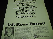 RON BARRETT from Capitol Hill to Beverly Hills 1986 PROMO DISPLAY AD mint cond