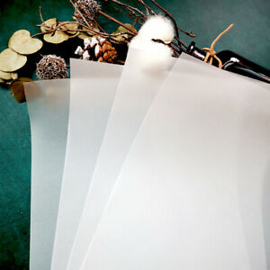 10/20pcs A4 Transparent Vellum Paper for Scrapbooking Album Background Decor DIY