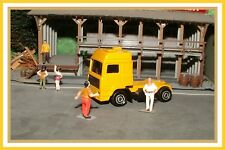 Majorette: HO Scale _ Yellow Volvo Tractor Trailer Cab