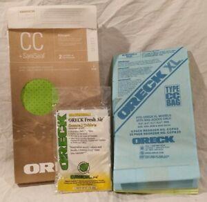 Oreck CC Sani Seal Allergen Filtration Vacuum 7 Bags  Part AK1CC6A Open Box