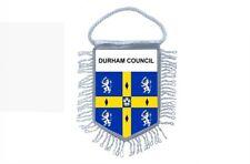 fanion mini drapeau voiture decoration souvenir blason anglais durham council