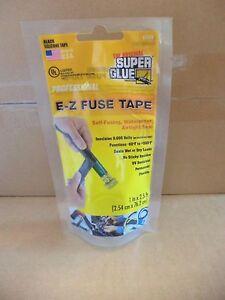 E-Z FUSE TAPE CAR RADIATOR HOSE REPAIR & EXHAUSTS WATERPROOF BLACK Self Fusing