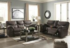 Motion Living Room Brown Microfiber Reclining 2 piece Sofa & Loveseat Set IF1F