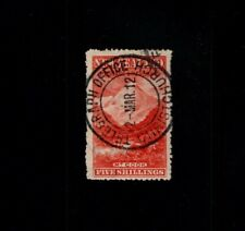 NEW ZEALAND MT Cook 5/- Five shilling 1898 issued pictorial Christchurch cancel