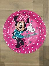 8x Disney Minnie Mouse Round Dinner Paper Plates DisposableGilrs' Party Supply