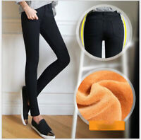 NEW Fashion Women Winter Warm Thick Skinny Stretchy jean Pants Casual Leggings