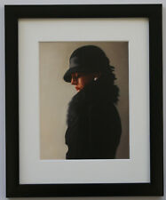 Jack Vettriano Portrait Black Pearl - Framed & Mounted Print Thin Black FREE P+P