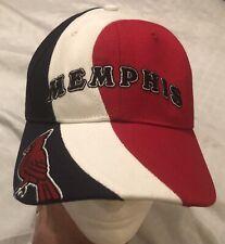 Memphis Redbirds Logo Hat Cap Red White Blue Adjustable MiLB Twins Ent NWOT