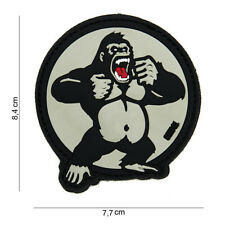 King Kong Gorilla Patch Klett Logo Airsoft Paintball Tactical Softair
