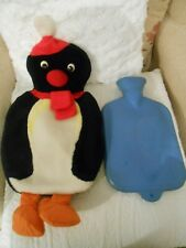 "rare PINGU HOT WATER BOTTLE COVER w/ bottle,PYJAMA CASE,SOFT plush TOY,19"",Boots"
