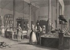 Reform Club. The kitchen. LONDON INTERIORS 1841 old antique print picture