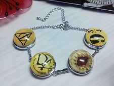 Harry Potter inspired silver plated bracelet with noosa style 18mm snaps buttons