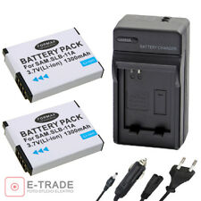 SLB-11A 2x Battery + CHARGER  For Samsung WB600 WB-600 WB-610 WB650 WB-650 WB660