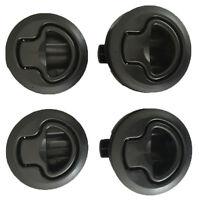 4 Flush Mount Slam Latch Boat/Caravan/4WD/ Door Latch 62mm Suits18mm deep Black