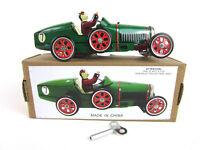 BUGATTI PAYA repro vtg WIND-UP Grand Prix Racer Race Car retro Tin New in Box