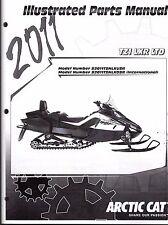 2011 ARCTIC CAT SNOWMOBILE TZ1 LXR LTD PARTS MANUAL P/N 2258-963  (753)