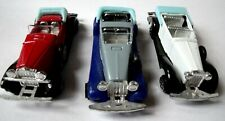 3 Vintage Diecast Summer Classic Convertible Toy Cars