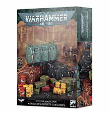 WARHAMMER BATTLEZONE MANUFACTORUM MUNITORUM ARMOURED CONTAINERS - NEW/BOX