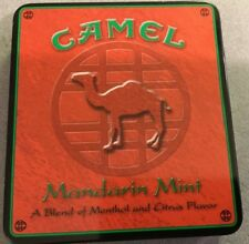 Vintage Camel Cigarette Tin Mandarin Mint Made In the USA!