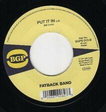 "FATBACK BAND Peace, Love Not War /Put It In  RARE FUNK 45 (BGP) 7"" VINYL SOUL"