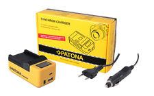 Caricabatteria casa//auto per Sony DSC-W290,DSC-W300 Batteria Patona 960mAh