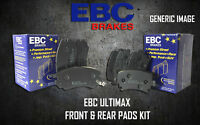 NEW EBC ULTIMAX FRONT AND REAR BRAKE PADS KIT BRAKING PADS OE QUALITY PADKIT165