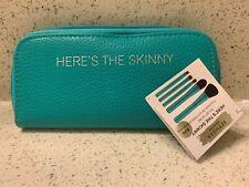 SEPHORA Here's The Skinny Brush Wrap GREEN 5 Brushes & Zippered Case NEW $104 RV