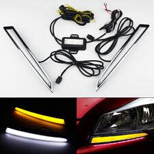2PCS Car LED Daytime Run Light DRL Drive Fog Lamp Turn Signal for Kuga Escape