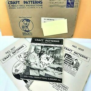 Vintage Wood Craft Patterns A Neely Hall 2 Patterns Fall Winter 1944-45 Catalog