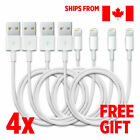 4 x Charging Charger Cable Cord Sync Data Apple iPhone 8,7,6,X IPad & Free Gift