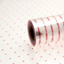 1 Roll of Coloured Dot Dotted Florist Flower Cellophane Film Gift Wrap Christmas