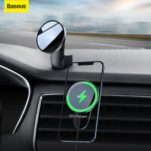 Car Magnetic Mobile Phone Holder Fast Charger Phone Mount for iPhone Samsung