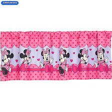 Disney Minnie Mouse Bow Power Girls Bedroom Curtain Valance Kids Decor NEW
