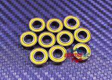 [50Pcs] MR105-2RS (5x10x4 mm) Rubber Ball Bearing Bearings YELLOW 5*10*4 MR105RS