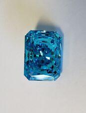 11CT Radiante Corte Azul EXTREME Fire Top Circonita Cúbica Imitación moissanita