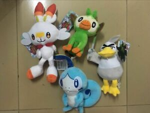 Sword and Shield Grookey Scorbunny Sobble Plush Doll Toy Christmas Gifts