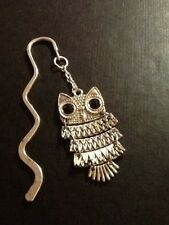 Owl book mark silver in colour