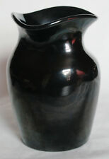 Small Black Tricorn Vase - Ewenny Pottery, Wales