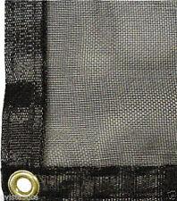 Black Mesh Tarp Shade Cloth 15 x 25 -55% sun blockage-has brass grommets-strong