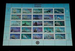 MARSHALL ISLANDS, 1996, NAVIGATION, SAILING SHIPS, SHEET/25, MH, NICE! LQQK!