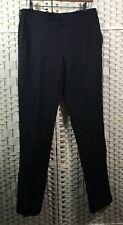 "DKNY Straight Leg Slim-Fit Work Smart Chino Long Trousers Wool Black (W32"" L31"")"
