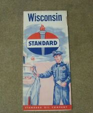 New ListingStandard Oil Company map 1950'S Wisconsin Vintage state map